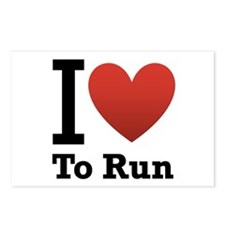 I Love to Run Postcards (Package of 8)