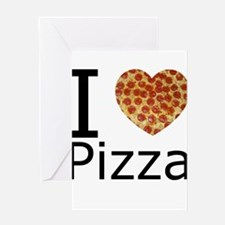 I Heart Pizza Greeting Card