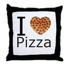 I Heart Pizza Throw Pillow