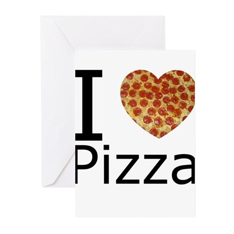 I Heart Pizza Greeting Cards (Pk of 10)