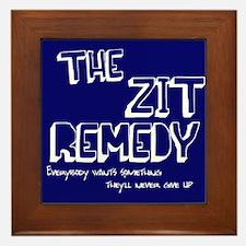 The Zit Remedy Framed Tile