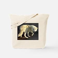 Wandering Arctic Wolf Tote Bag