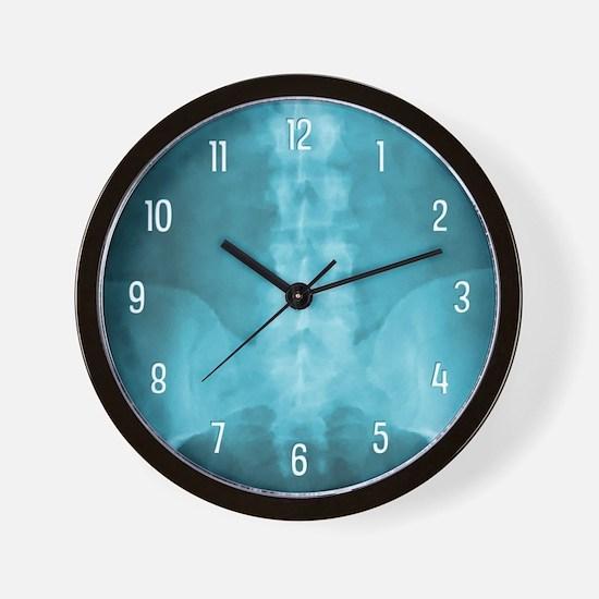 Blue Digital X-Ray Art Wall Clock