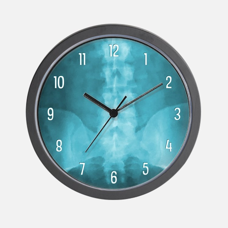 Blue Digital X-Ray Art Wall Clock