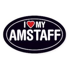 American Staffordshire/Amstaff Oval Sticker/Decal