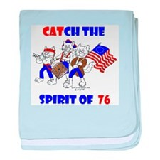 Cat-ch the Spirit of '76 baby blanket