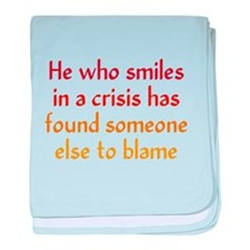 Smile in a Crisis baby blanket