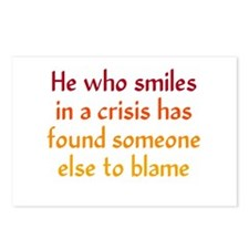 Smile in a Crisis Postcards (Package of 8)