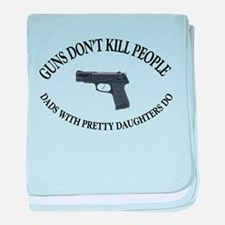 Guns Don't Kill People baby blanket