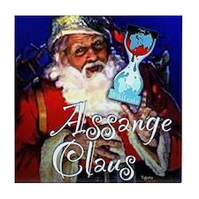 Assange Claus Tile Coaster
