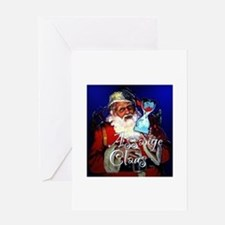 Assange Claus Greeting Card