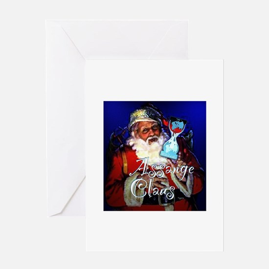 Assange Claus Greeting Card