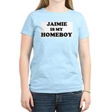 Jaimie Is My Homeboy Women's Pink T-Shirt