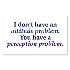 Attitude versus Perception Decal