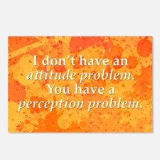 Attitude versus Perception Postcards (Package of 8