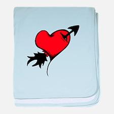 Shot Through The Heart baby blanket