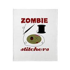 zombie stitchers Throw Blanket