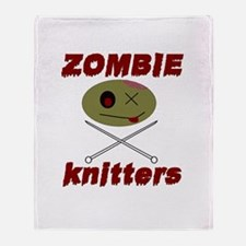 zombie knitter Throw Blanket