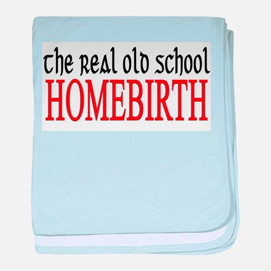 old school home birth baby blanket