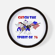 CAT-CH THE SPIRIT OF 76™ Wall Clock