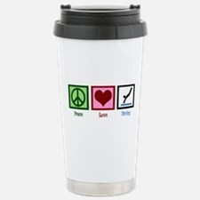 Peace Love Diving Stainless Steel Travel Mug