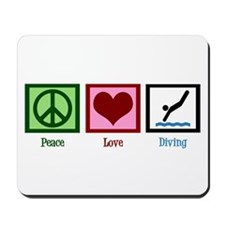 Peace Love Diving Mousepad