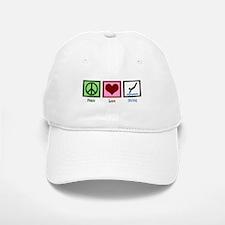 Peace Love Diving Baseball Baseball Cap