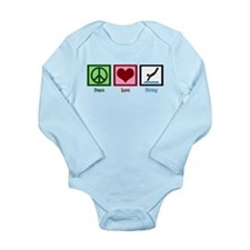 Peace Love Diving Long Sleeve Infant Bodysuit