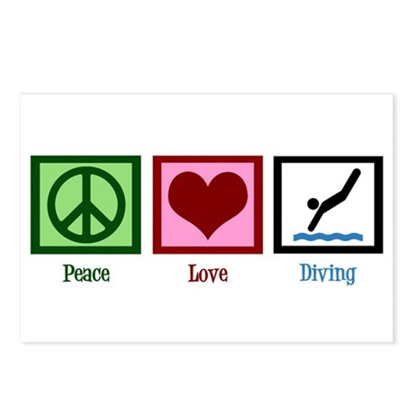 Peace Love Diving Postcards (Package of 8)