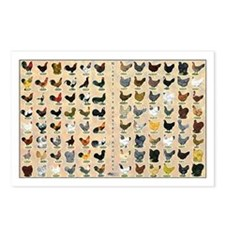 96 Roosters and Hens Postcards (Package of 8)