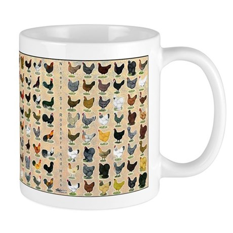96 Roosters and Hens Mug