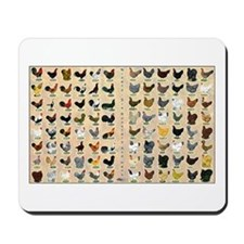 96 Roosters and Hens Mousepad