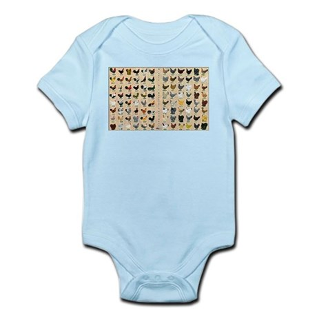 96 Roosters and Hens Infant Bodysuit