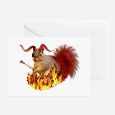 Krampus Squirrel Greeting Card