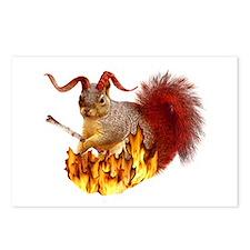 Krampus Squirrel Postcards (Package of 8)