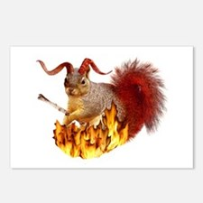 Krampus Squirrel Postcards (Package of 8)