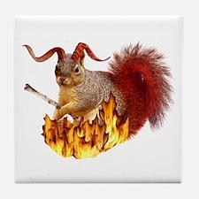 Krampus Squirrel Tile Coaster
