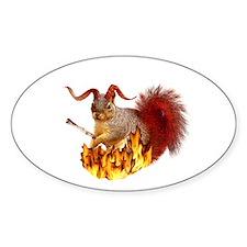 Krampus Squirrel Decal