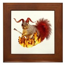 Krampus Squirrel Framed Tile