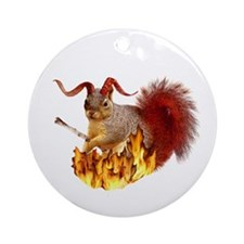 Krampus Squirrel Ornament (Round)