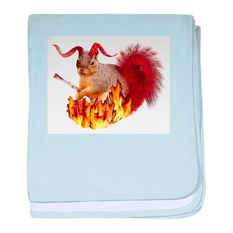 Krampus Squirrel baby blanket