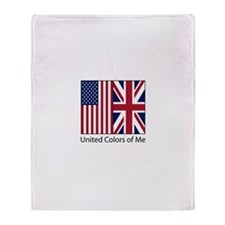 US UK Me Throw Blanket