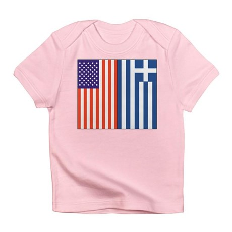 US and Greece Infant T-Shirt