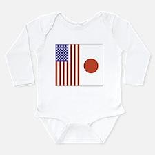 US and Japan Long Sleeve Infant Bodysuit