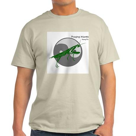 Praying Mantis Kung Fu Logo Ash Grey T-Shirt