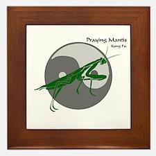Praying Mantis Kung Fu Logo Framed Tile