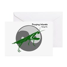 Praying Mantis Kung Fu Logo Greeting Cards (Packag