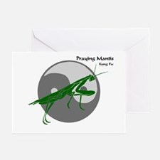 Praying Mantis Kung Fu Logo Greeting Cards (Packag