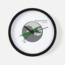 Praying Mantis Kung Fu Logo Wall Clock