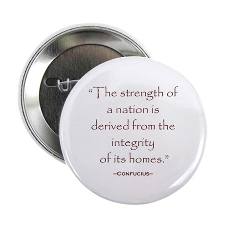 """Confucius Preservatioin Quote 2.25"""" Button (100 pa"""